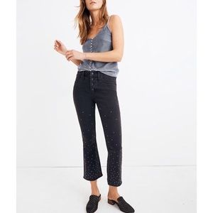 Madewell Cali Demi Boot Jeans With Embroidered Dot